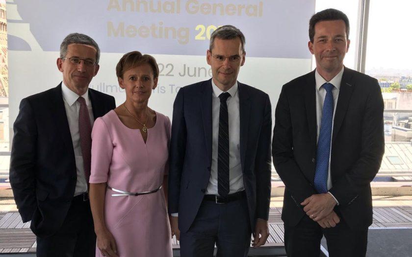 La nouvelle direction générale de l'EFAMA avec Nicolas Calcoen,Myriam Vanneste et Jarkko Syyrilä
