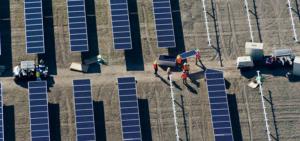 Une station solaire de Total vue de haut
