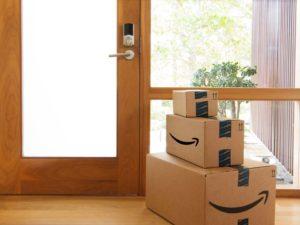 Une livraison d'Amazon à domicile (photo Amazon)