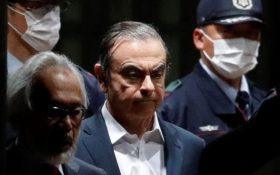 Carlos Ghosn lors de son procès au Japon en avril 2019