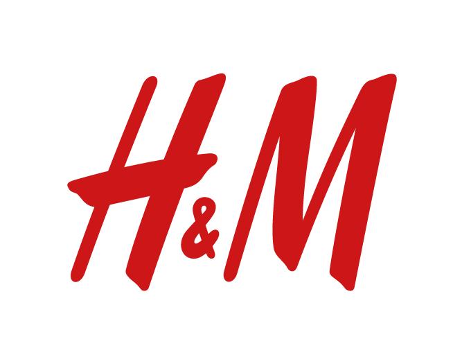 Logo de la marque suédoise H&M.