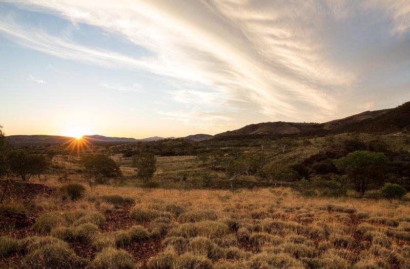 Un paysage en Australie.